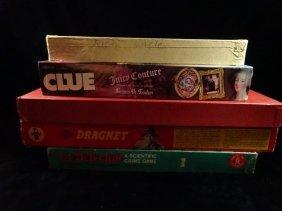 5 Pc Vintage Board Games, Includes Rich Uncle, Clue