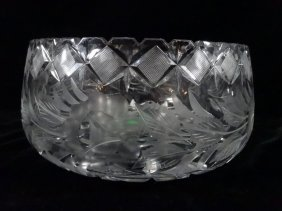 "Crystal Bowl, Approx 4"" X 9"""