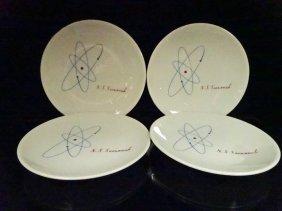4 Vintage N.s. Savannah Plates, Made By Mayer China,