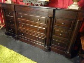 Restoration Hardware 12 Drawer Dresser, Dark Finish,