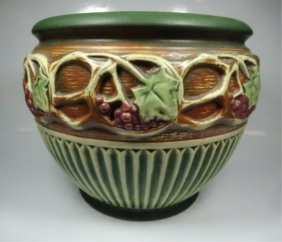 """Roseville Pottery Bowl, Some Cracking, Approx 8"""" X 10"""""""