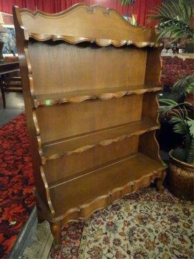 Vintage Wood Display Rack, Wood Shelves With Plate