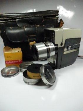 Vintage Wollensak 8mm Camera, With Case