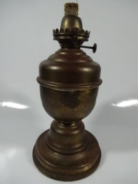 Vintage Miller & Co. Oil Lamp Base, Made In U.s.a.,