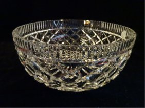 "Waterford Cut Crystal ""alana"" Bowl, Etched Waterford"