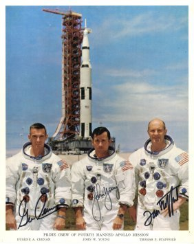 Apollo X: A Good Signed Colour 8 X 10 Photograph By All