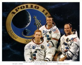 Apollo Xiv: Signed Colour 10 X 8 Photograph By All