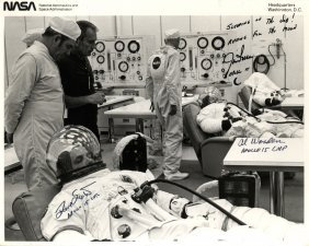 Apollo Xv: An Excellent Signed 10 X 8 Photograph By All