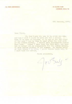 Betjeman John: (1906-1984) British Poet Laureate