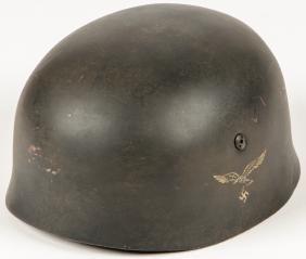 German Wwii Double Decal Luftwaffe Paratrooper Helmet