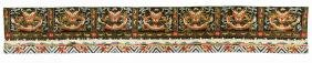 """Antique Chinese Silk Embroidered Dragon Banner: 145"""" L"""