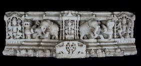 Finely Carved Marble Relief