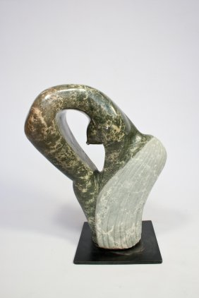 Carved Stone Shona Sculpture (Female Nude)