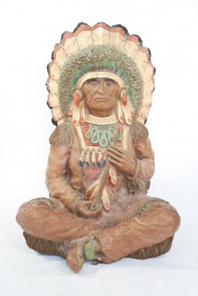 Native American Chalk Figure