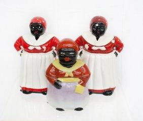 Three Vintage Aunt Jemima Ceramic Cookie Jars