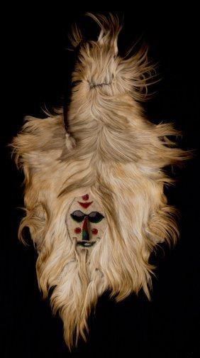 Felt And Goat Hide Shaman/Story-Tellers Mask