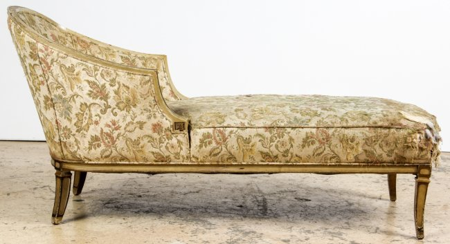 Antique upholstered chaise longue lot 84 for Chaise longue 200 cm