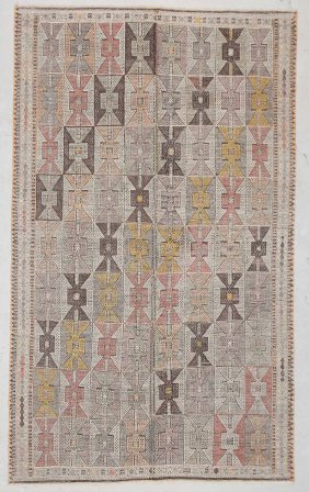 "Modern Turkish Kilim: 4'10"" X 8'1"" (147 X 246 Cm)"