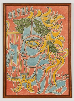 """Jean Cocteau (french, 1889-1963) """"orphee"""", 1963"""