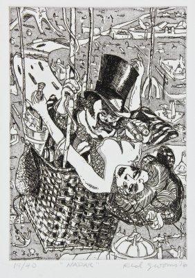 """Red Grooms (american, B. 1937) """"nadar"""""""