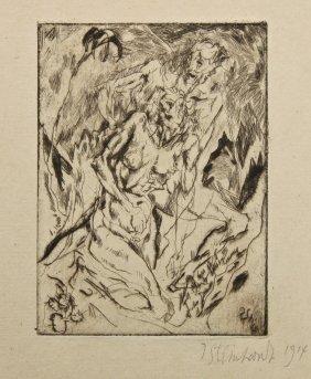 Jakob Steinhardt (israeli, 1887-1968) Untitled, 1914,