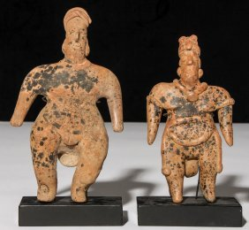 2 Pre Columbian Clay Figures, Colima