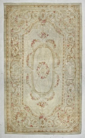 "19th C. French Aubusson Tapestry Carpet: 11'3"" X 19'1"""