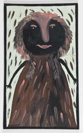 Mose Tolliver (1925-2006) Painting On Wood