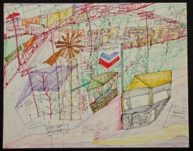 "Mark Anthony Mulligan (b. 1963) ""city Of Millwell"""