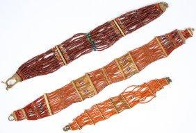 2 Antique Konyak Naga Belts & 1 Choker