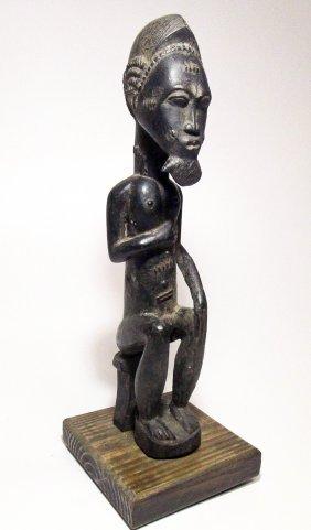 Fine Old Baule Male Oracle Figure, Ivory Coast