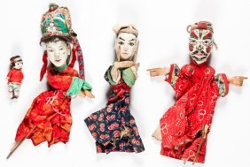4 Old Asian Puppets