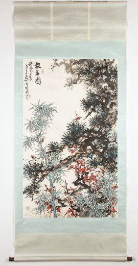 Guan Shanyue (chinese, 1912-2000) Scroll Painting