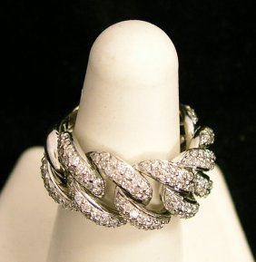 Sonya B 2CTW 18KWG Ladies Ring