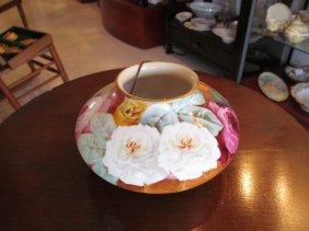 Limoges Vienna Squat Vase Roses