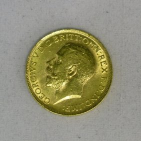 4 Gold English Sovereigns 1912-1925