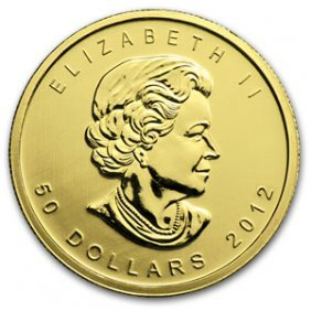 2012 1 Oz Gold Canadian Maple Leaf