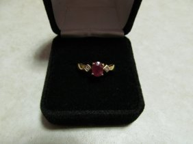 Lady's Gemstone And Diamond Fashion Ring