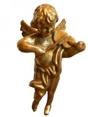 Baroque Style Carved Gilt Wood Putti