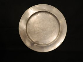 18th C. Pewter Charger