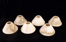 Set Of Six 19th C. Alabaster Shades