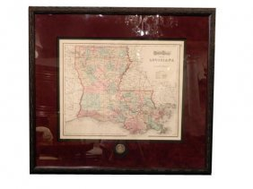 Gray�s Atlas Map Of Lousiana, Circa 1873