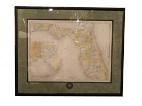 Rand, McNally FLORIDA Map, Circa 1892