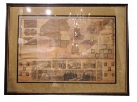 1841 UNITED STATES, Antique Roll Map.  Own An Impr