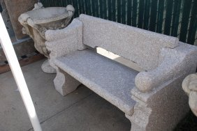 Beautiful Hand Carved Granite Bench 30x49