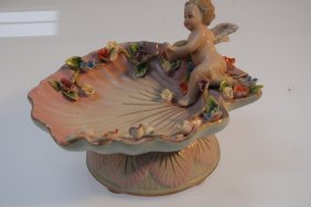 Vintage German Porcelain Cupid Dish