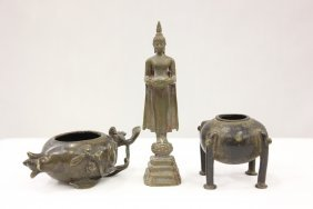 3 Chinese Antique Bronze Items