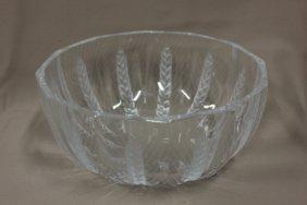 Signed Lalique Center Bowl