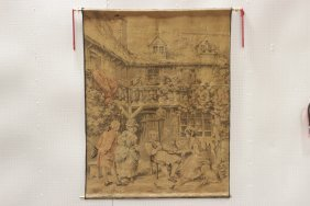 Large Pictorial Wall Hanging Tapestry