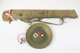 Wwi Us Army Signal Corp Flag Kit, With Award